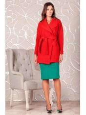 Короткое пальто без подкладки из вязаного полотна букле