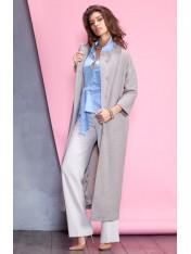 Женственное демисезонное длинное пальто