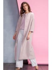 Элегантное демисезонное пальто из ткани букле