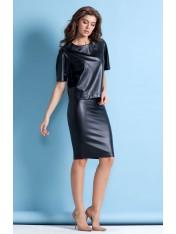 Элегантная юбка из искусственной кожи стрейч
